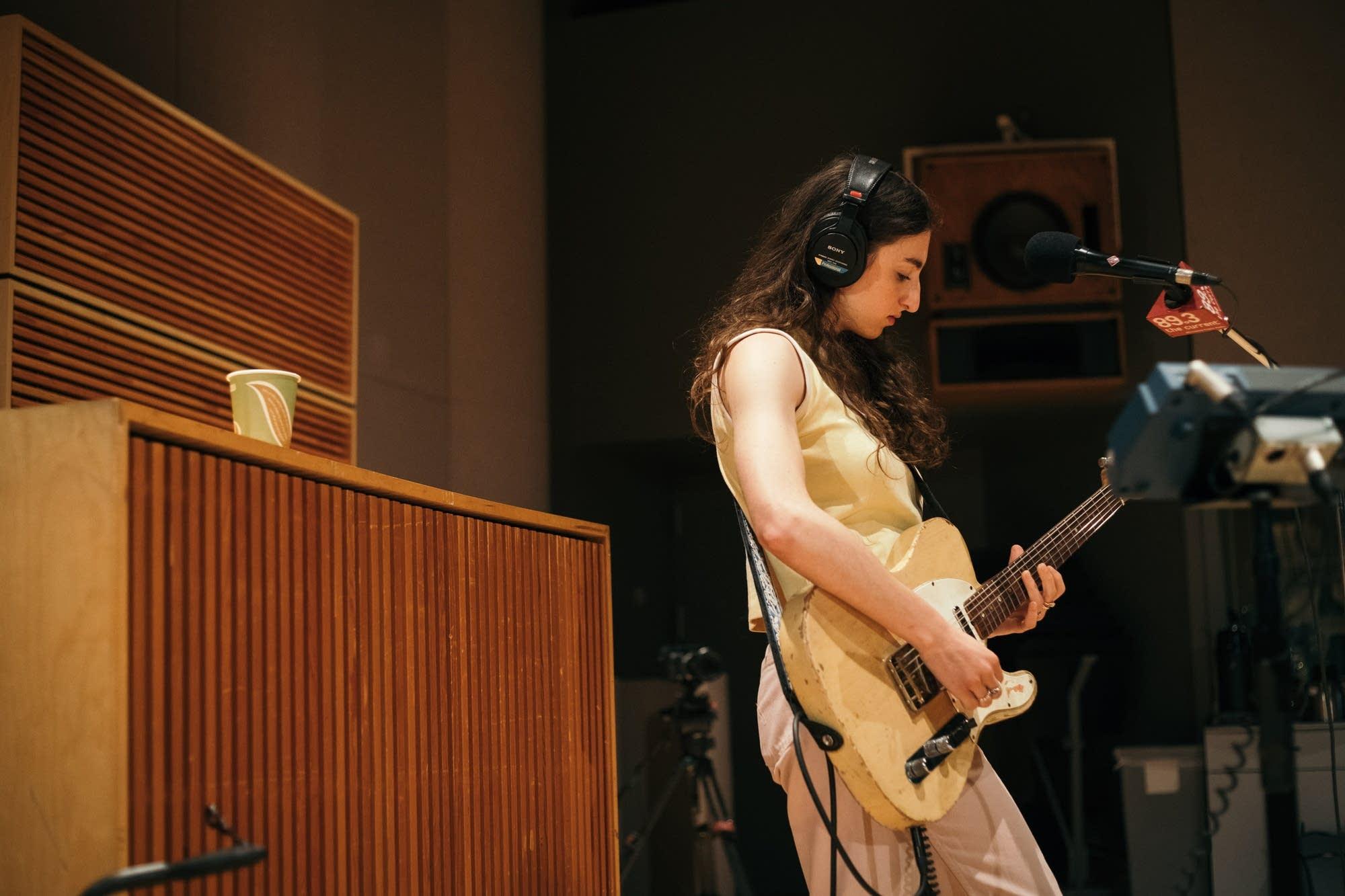 Bailen perform in The Current studio