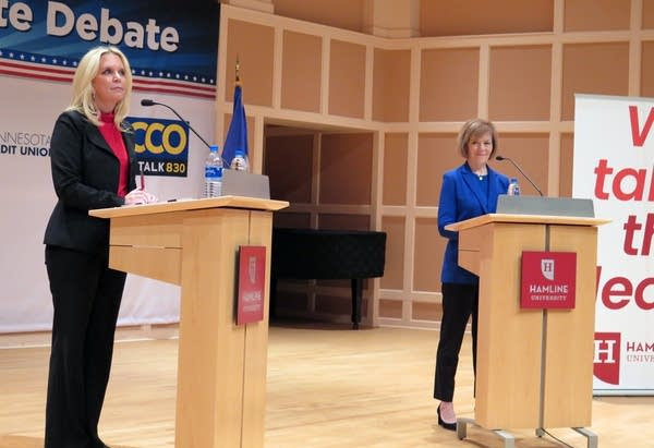 Republican state Sen. Karin Housley and Democratic U.S. Sen. Tina Smith.