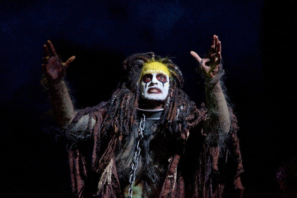 Luca Pisaroni as Caliban in The Enchanted Island.