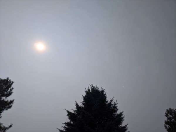 Thick elevated smoke layer above the Twin Cities Tuesday