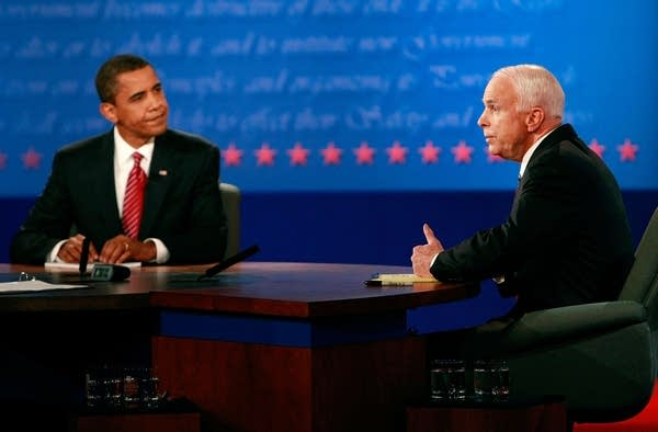 Obama and McCain spar during the final debate