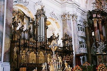 1766 Riepp organ at the Kloster, Ottobeuren, Germany