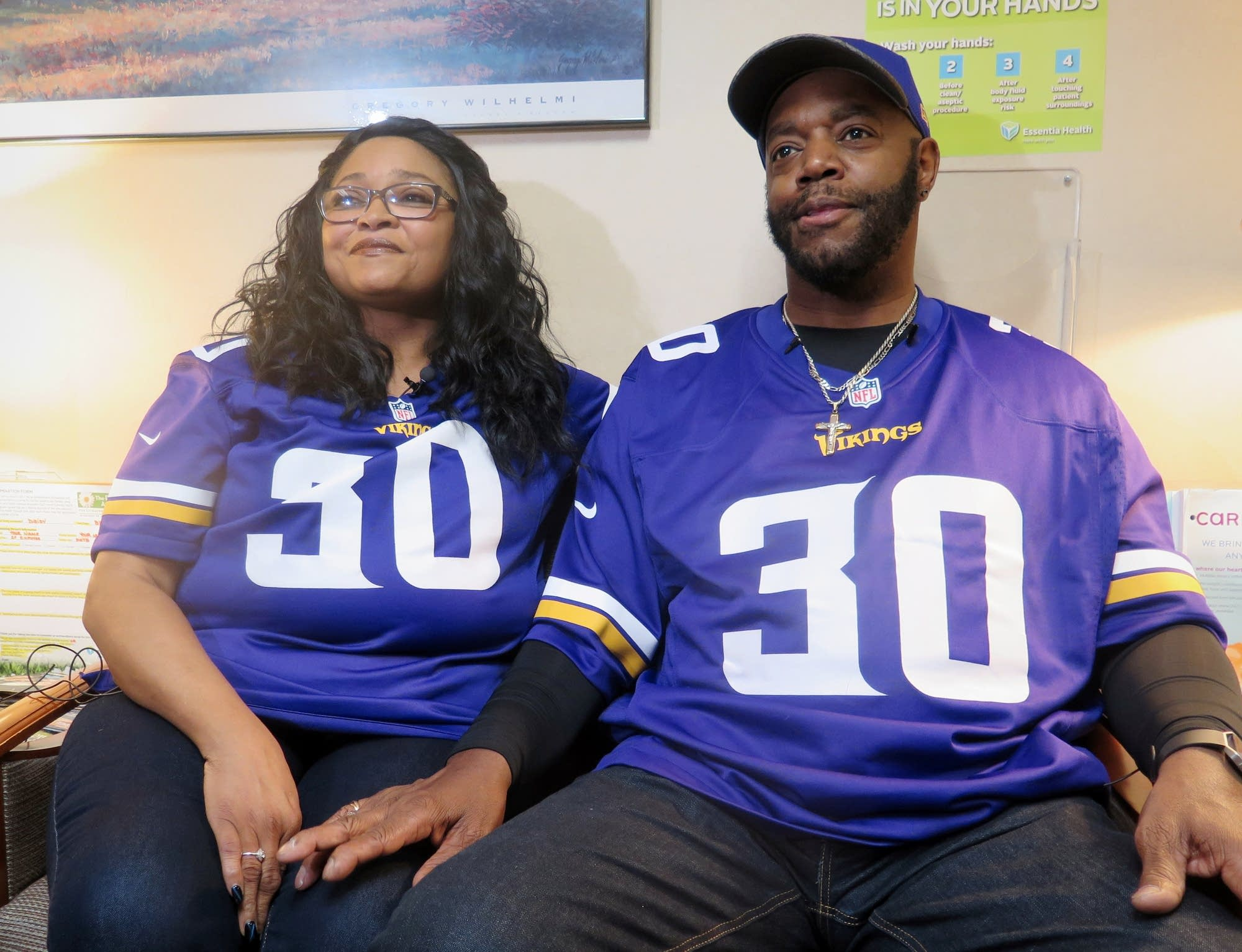Tina and Cortez Ham, parents of Minnesota Viking and Duluth native C.J. Ham