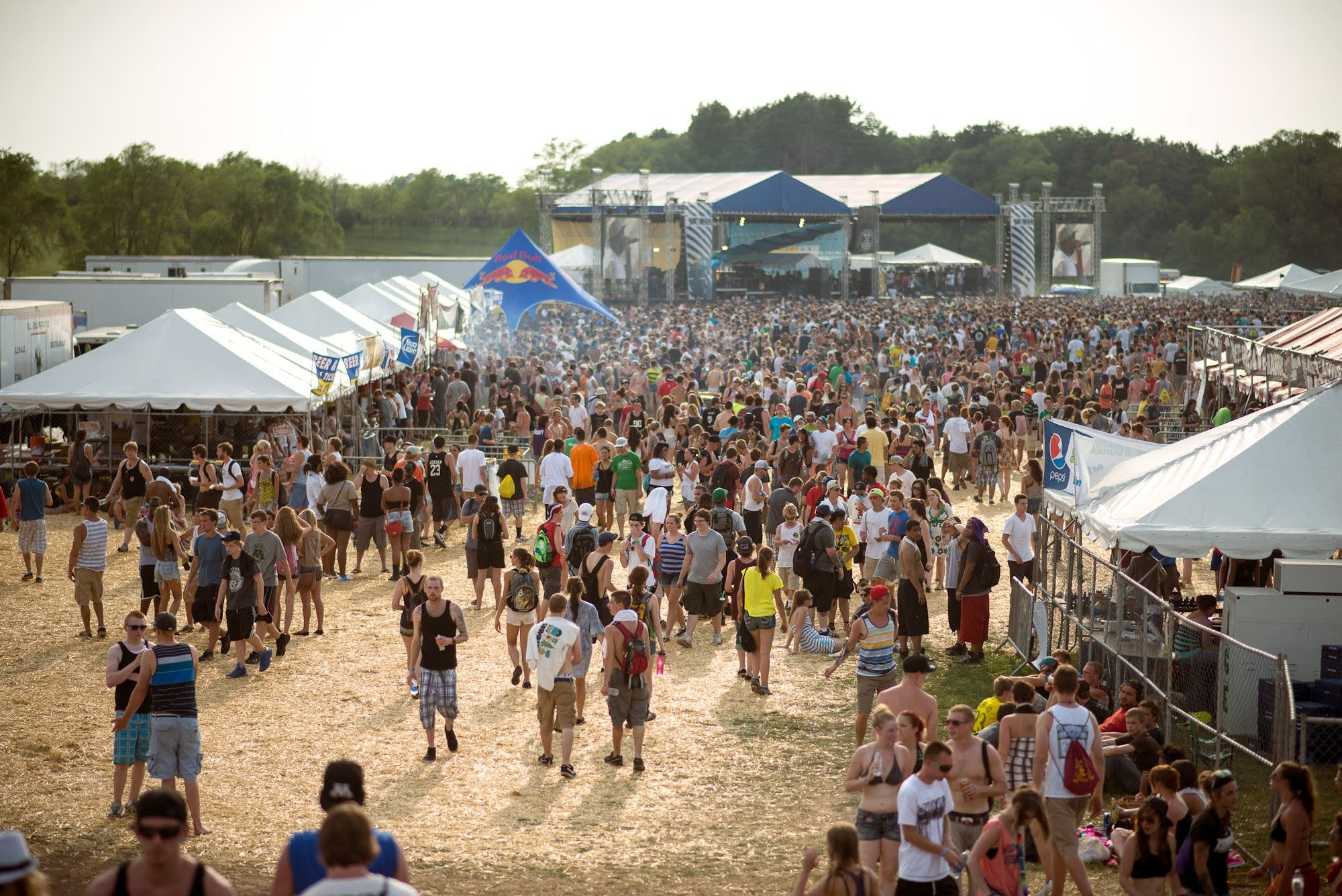 Crowds gather in Shakopee's Canterbury Park at Soundset 2012