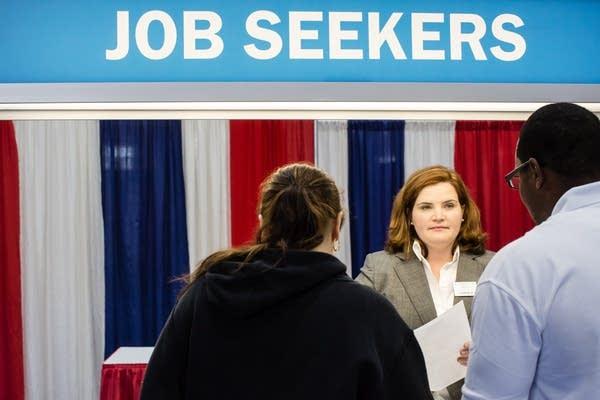 Career fair job seekers