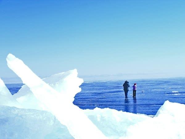 A walk on frozen Lake Superior