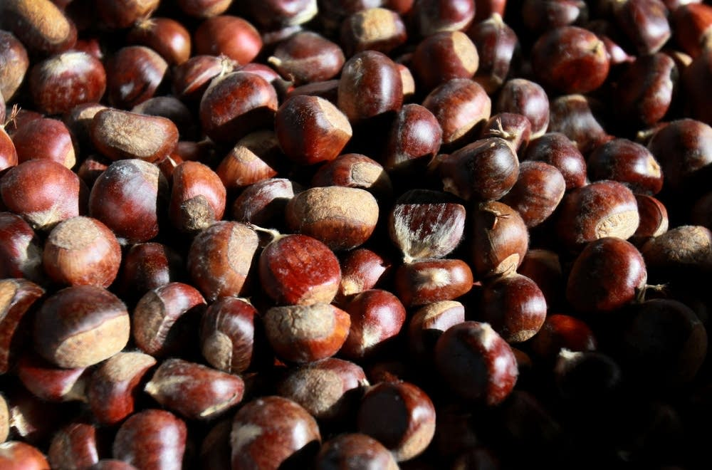 Chestnuts in the Rutters' root cellar