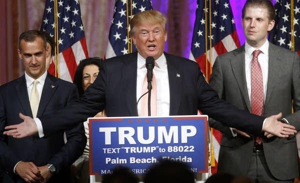 Donald Trump, Corey Lewandowski , Eric Trump