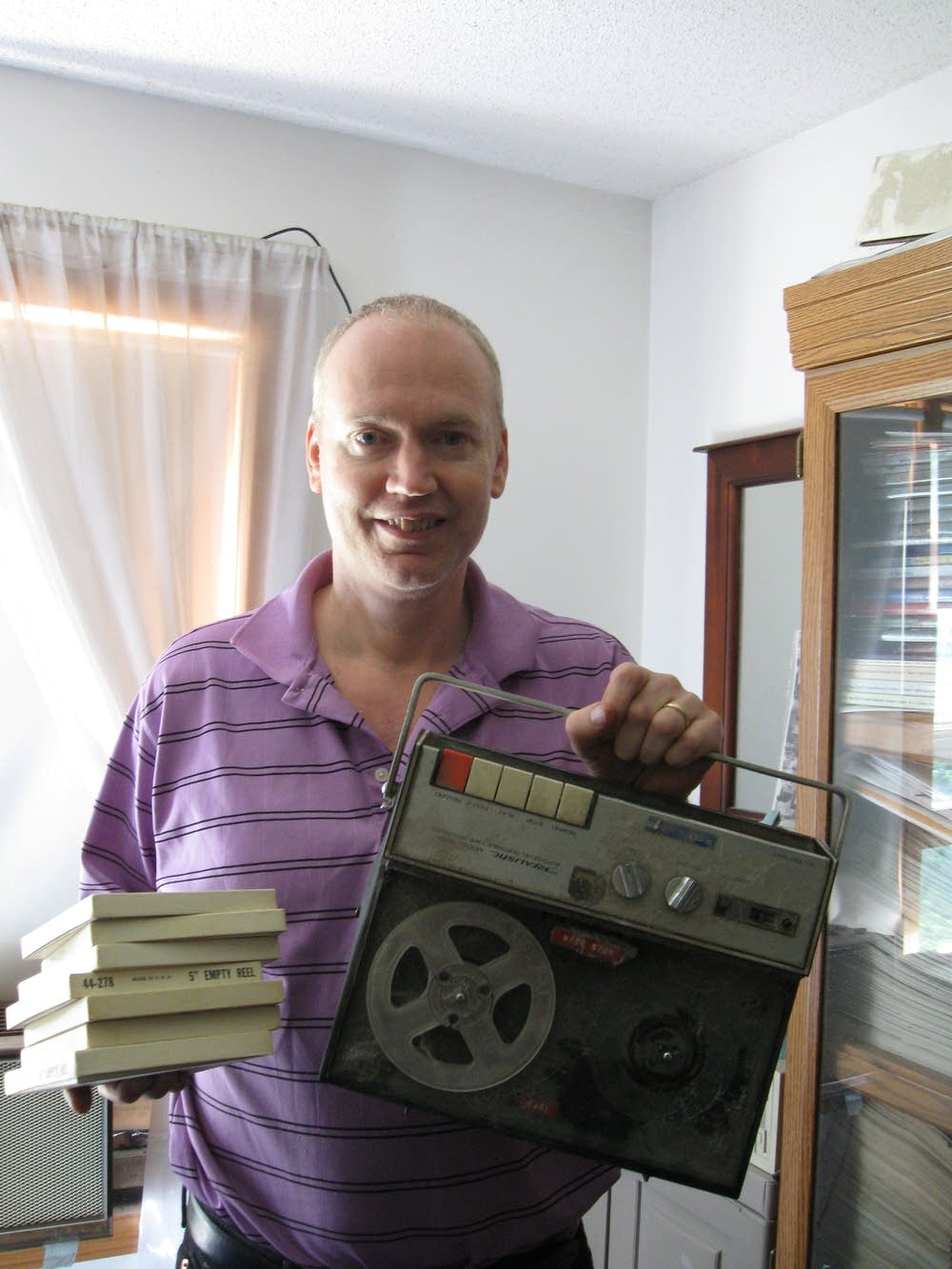 Russell Jones and his vintage tape recorder