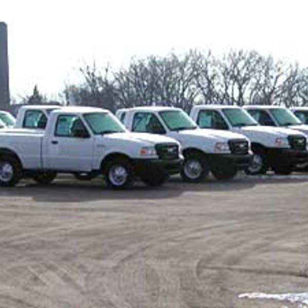 Ford Ranger trucks at St. Paul plant