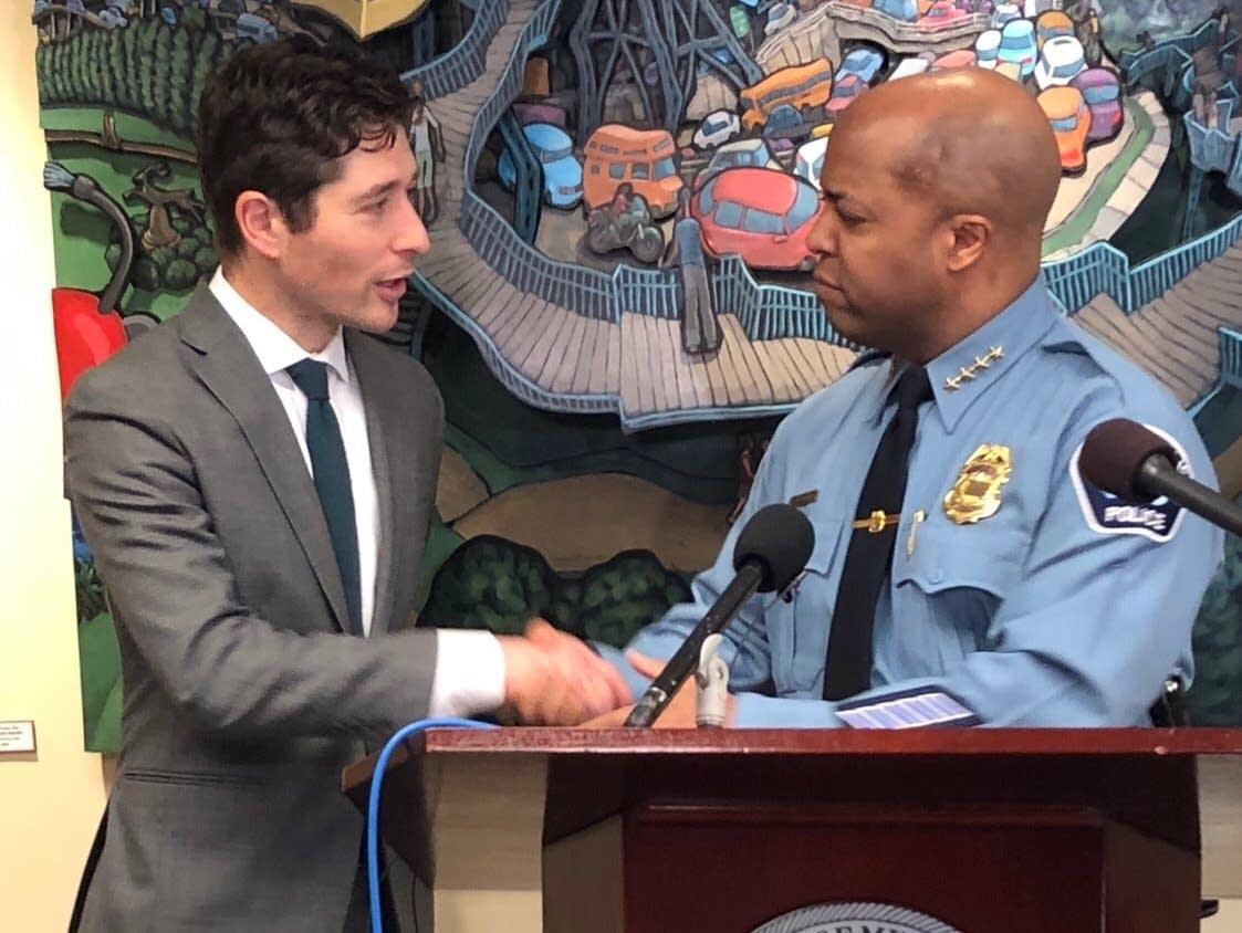 Minneapolis Mayor Jacob Frey and police Chief Medaria Arradondo