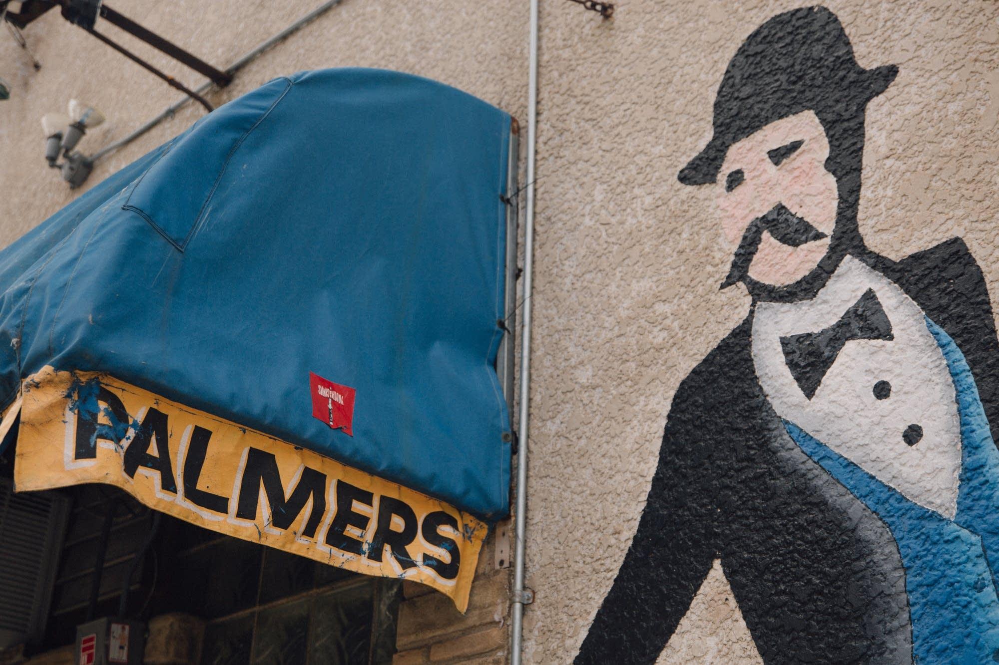 Art outside of Minneapolis' Palmer's Bar.