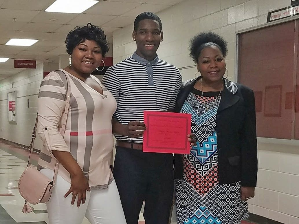 Marques Watson is the first recipient of the Castile Memorial Scholarship.