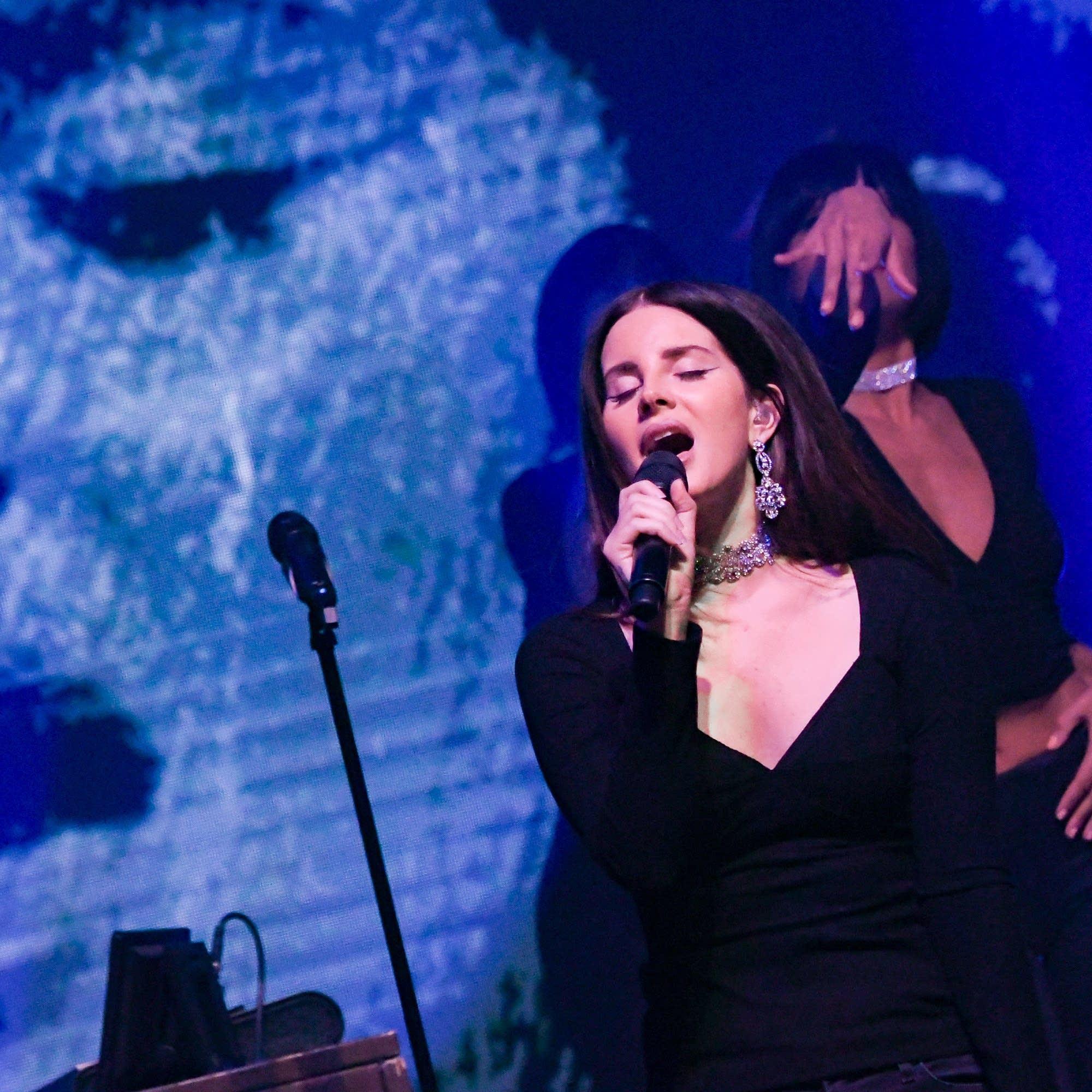 Lana Del Rey performs in New York City, October 2017.