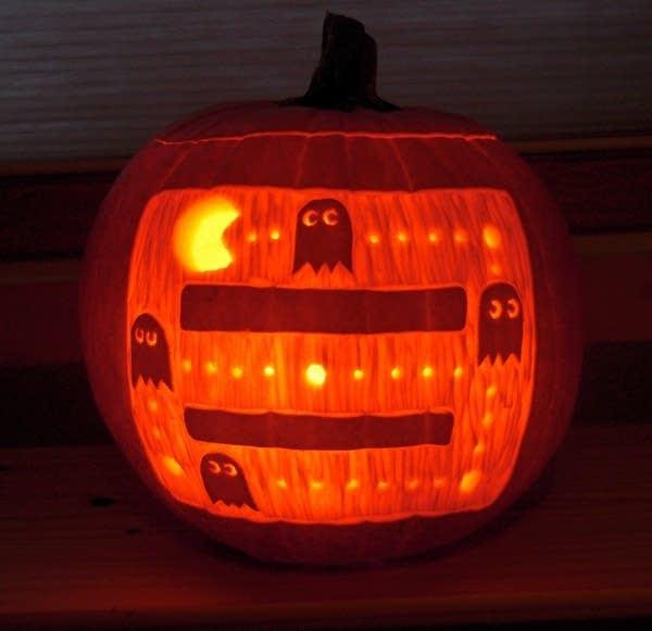 A Pac-Man pumpkin