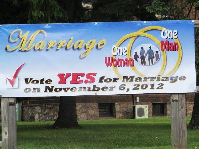 Marriage amendment sign