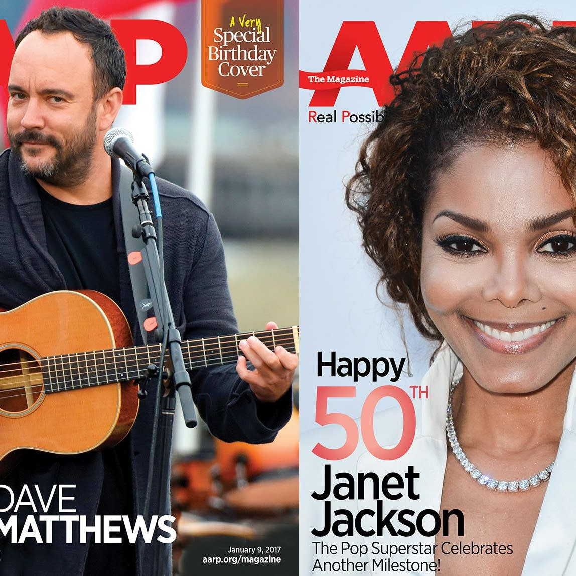 AARP 'birthday covers'