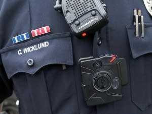 Officer Chris Wicklund wears a camera