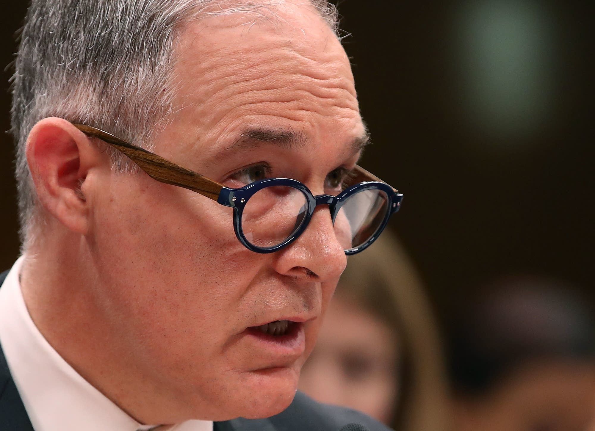 EPA Administrator Scott Pruitt Testifies before a Senate committee.