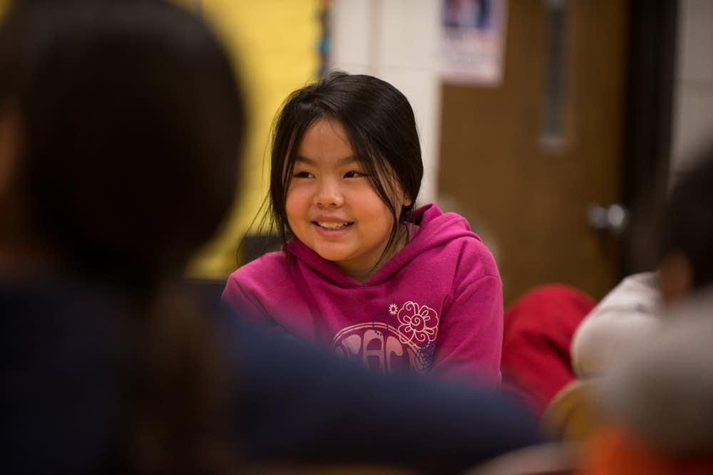 hmong girl smiling