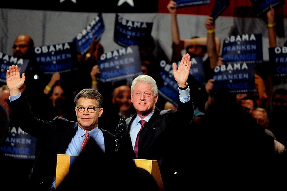 Clinton and Franken