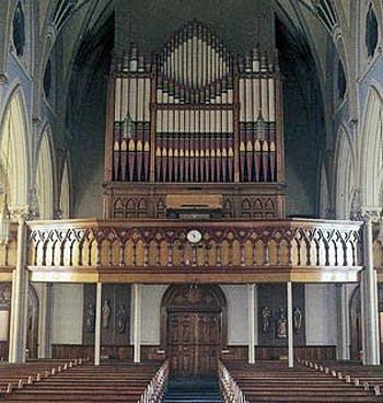 1892 Johnson organ at Sacred Heart Roman Catholic Church, Waterbury,...
