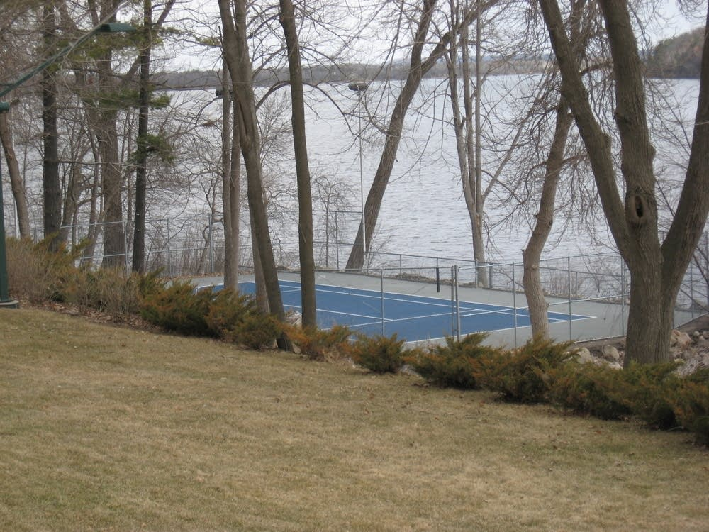 Tennis court along the St. Croix