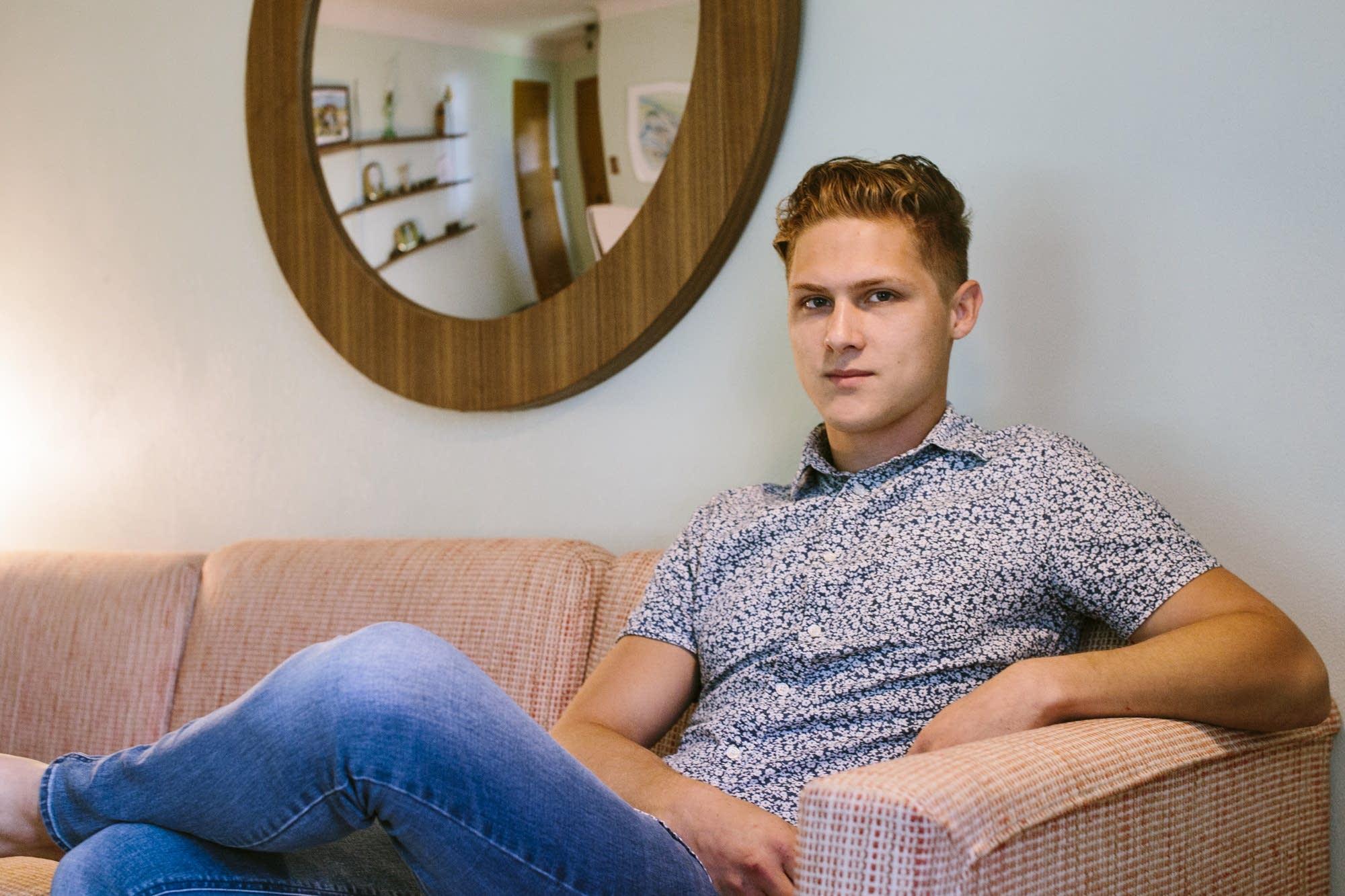 Airbnb host Elijah Neumann in his home.