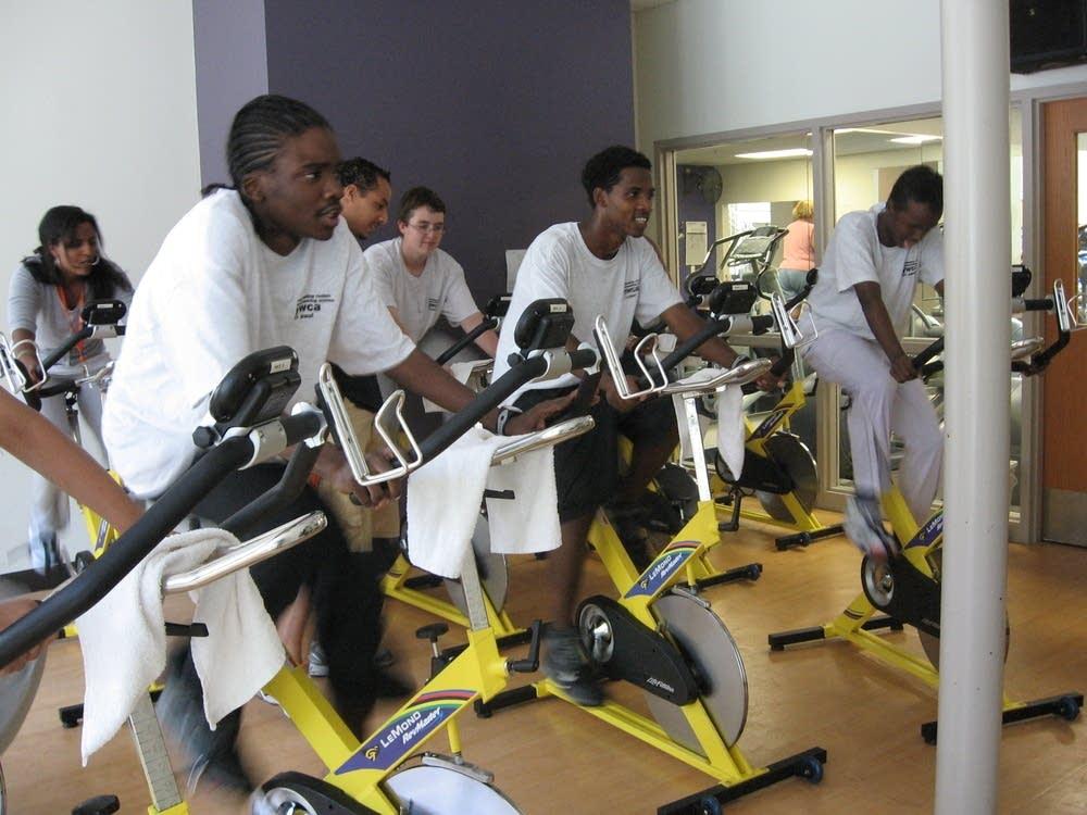 YWCA spinning class