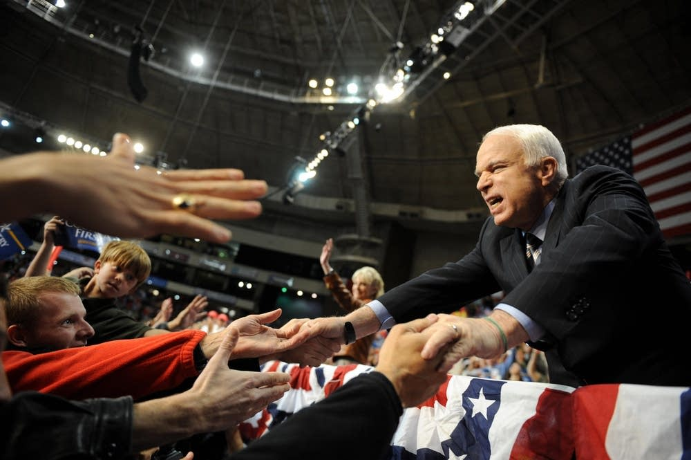 McCain greets supporters in North Carolina