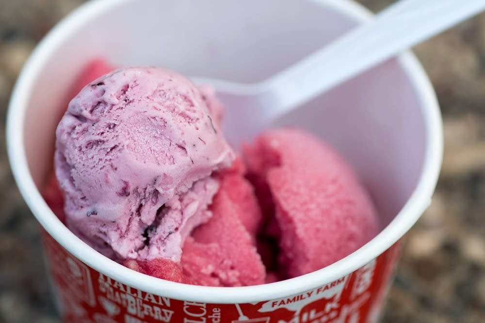 Pomegranate Pizzazz sorbet