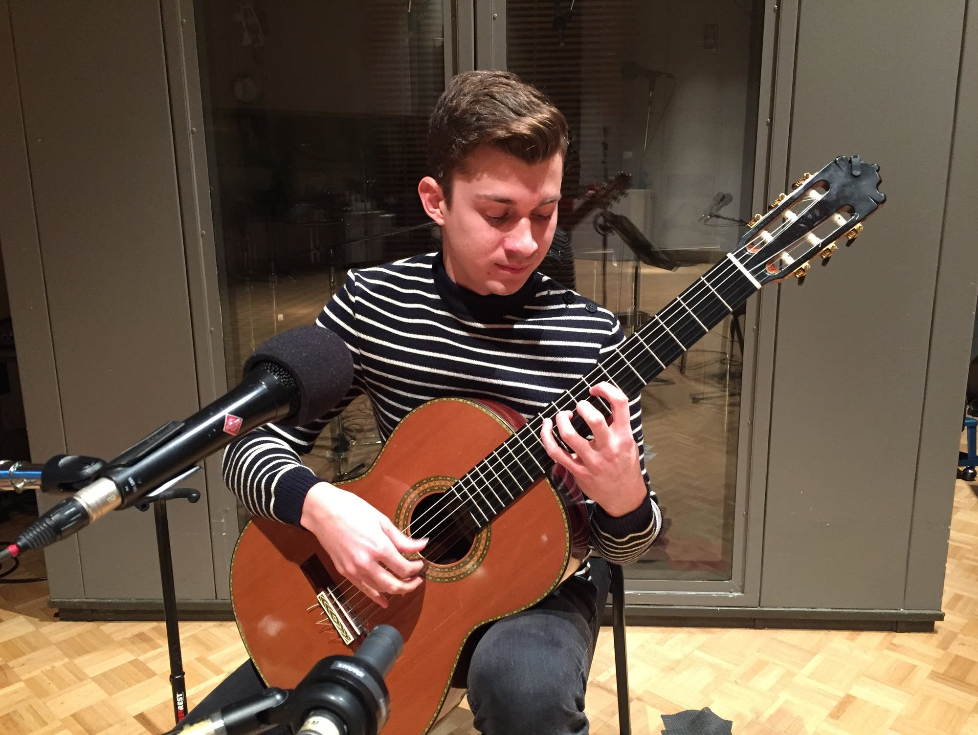 Guitarist Thibaut Garcia at Classical MPR