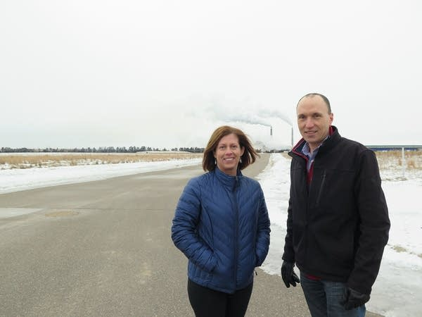 Becker Mayor Tracy Bertram and City Administrator Greg Pruszinske