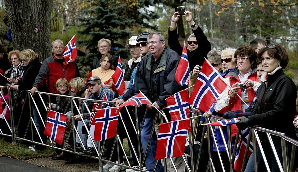 Gathering for Norwegian royalty