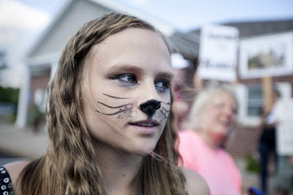 Paige Ellgren attended the protest.