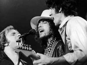 Van Morrison Bob Dylan Robbie Robertson last waltz