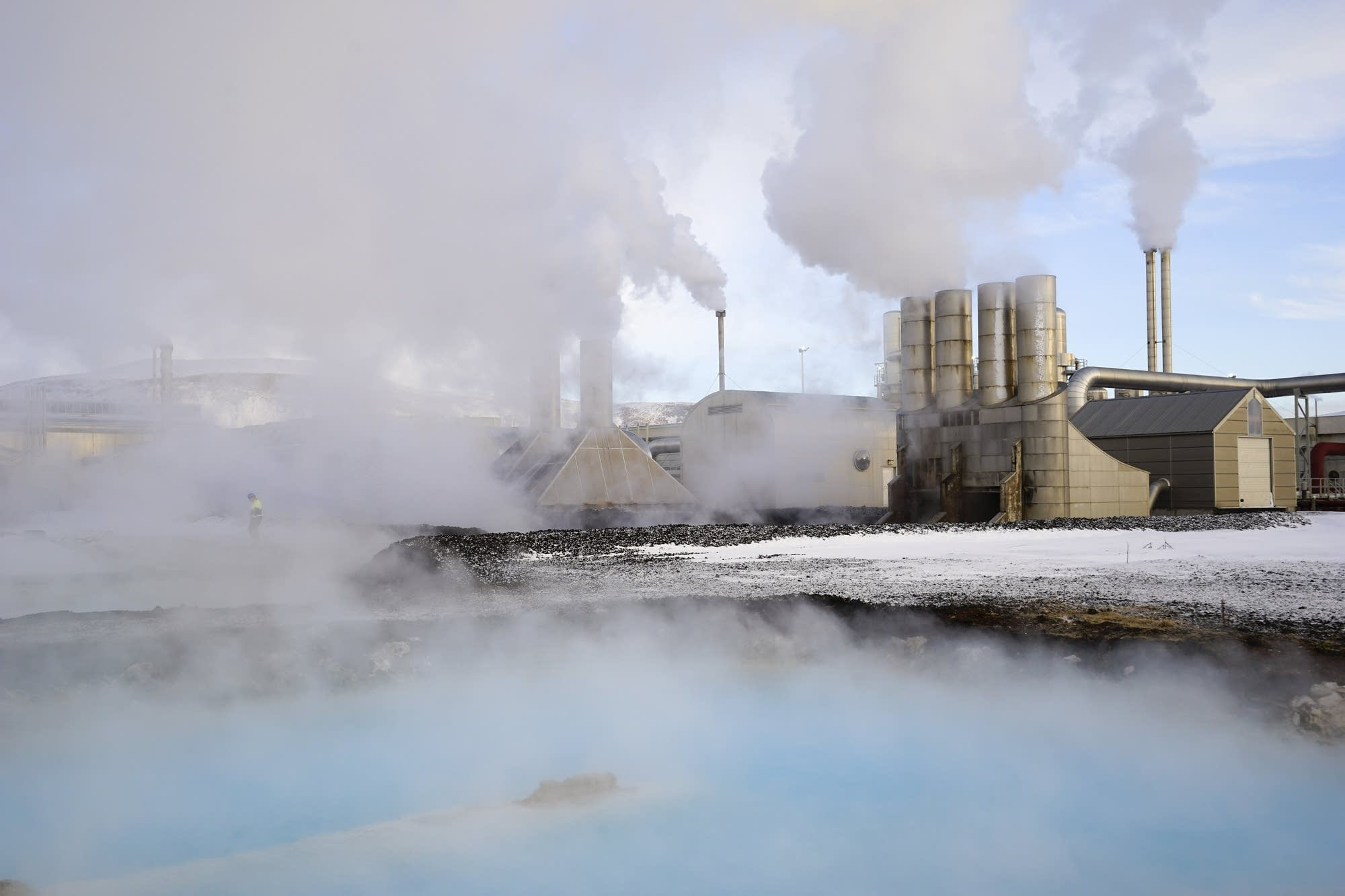 Svartsengi geothermal power station in Grindavik, Iceland
