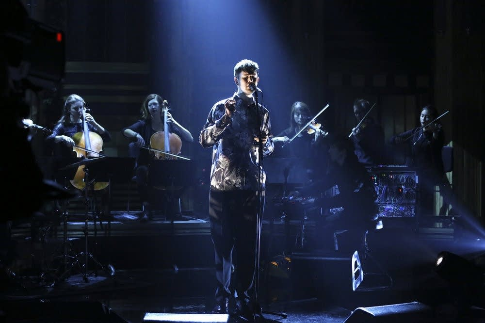 James Blake performs on 'The Tonight Show Starring Jimmy Fallon'