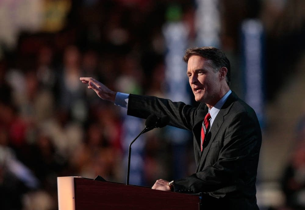 Sen. Evan Bayh (D-IN) speaks during the DNC