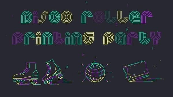 Disco Roller Printing Party