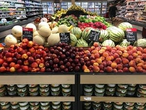 Fruit at a grocery store in Florida.