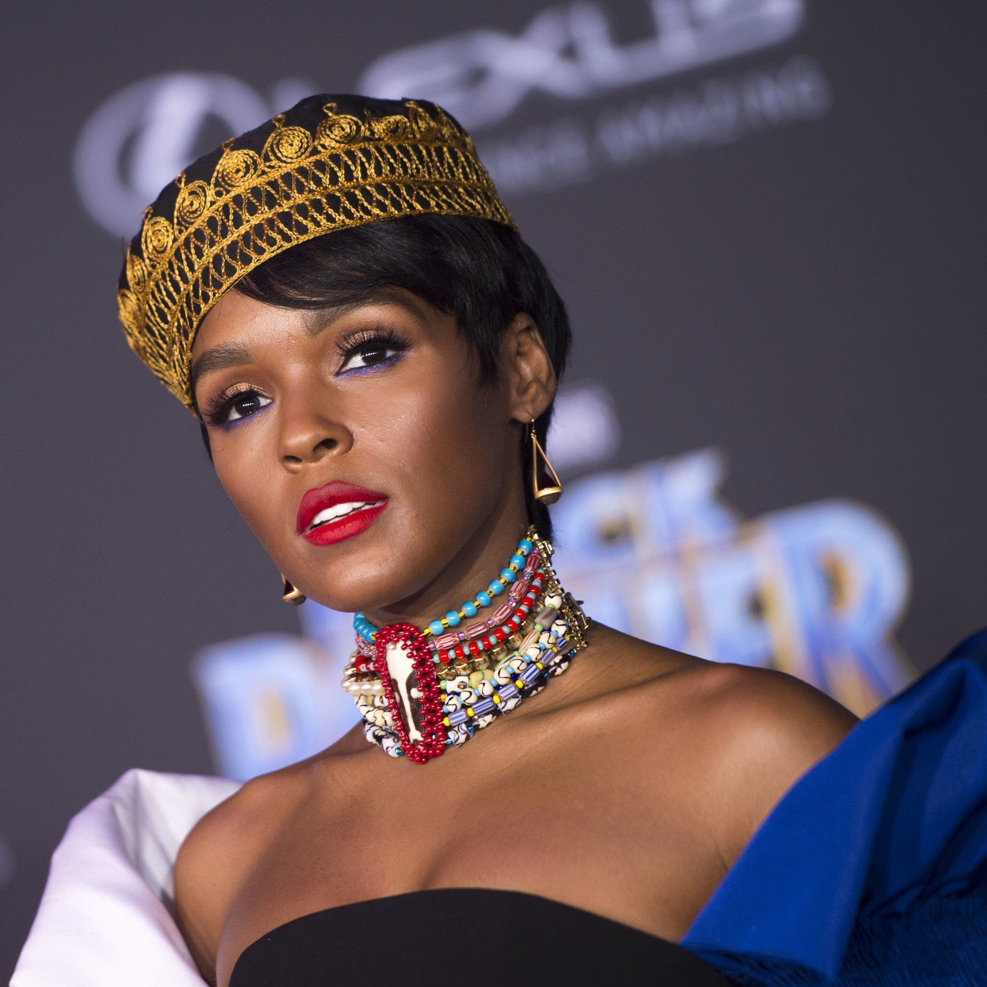 Janelle Monae at the 'Black Panther' premiere.
