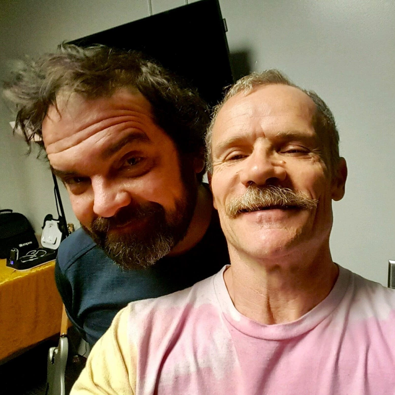 Brian Oake and Flea of Red Hot Chili Peppers