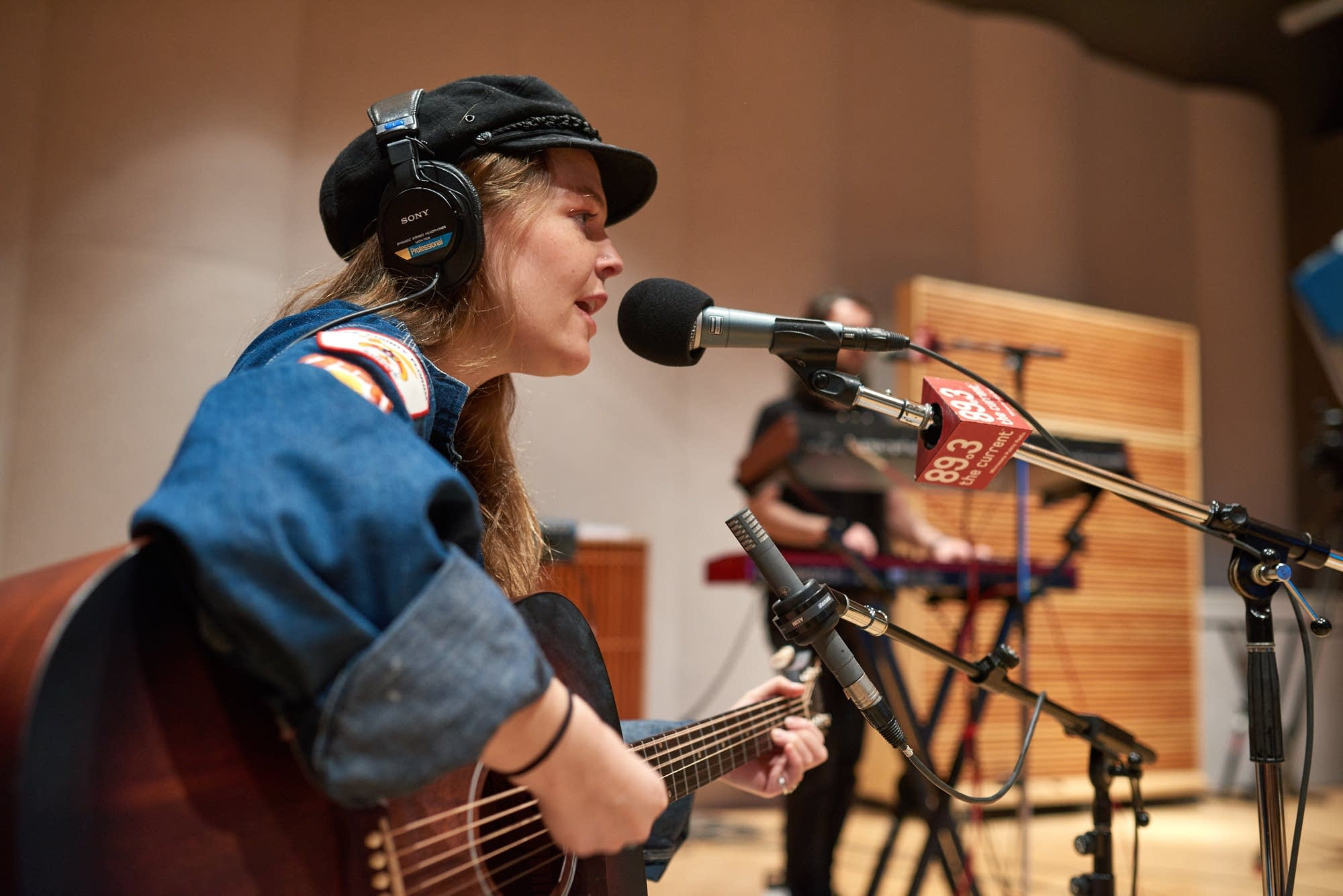 Maggie Rogers performs in The Current studio