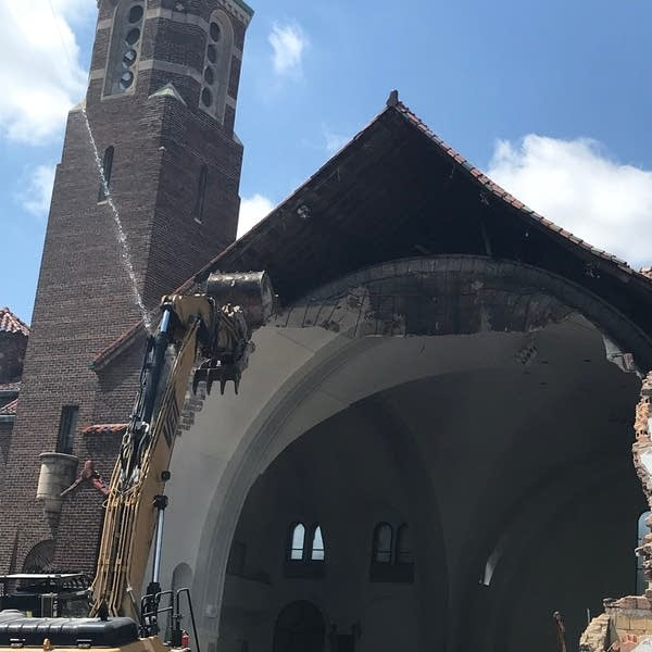 The demolition of the former St. Andrews Catholic Church.