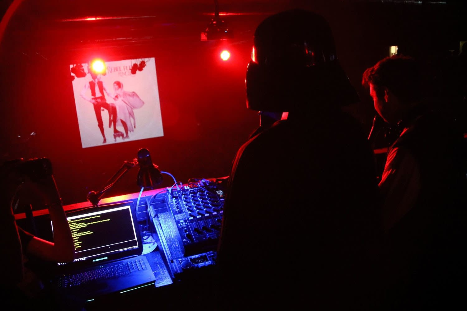 Darth Vader joins Jake Rudh in the DJ booth