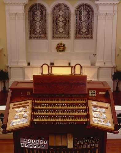 The 1992 Ontko & Young organ at First Scots Presbyterian Church,...