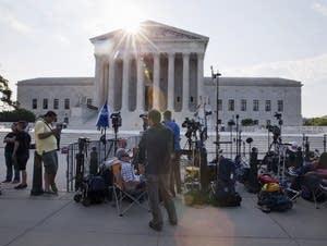 Scene outside Supreme Court