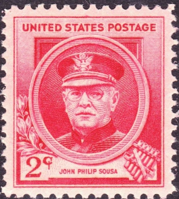 1940 commemorative John Philip Sousa postage stamp