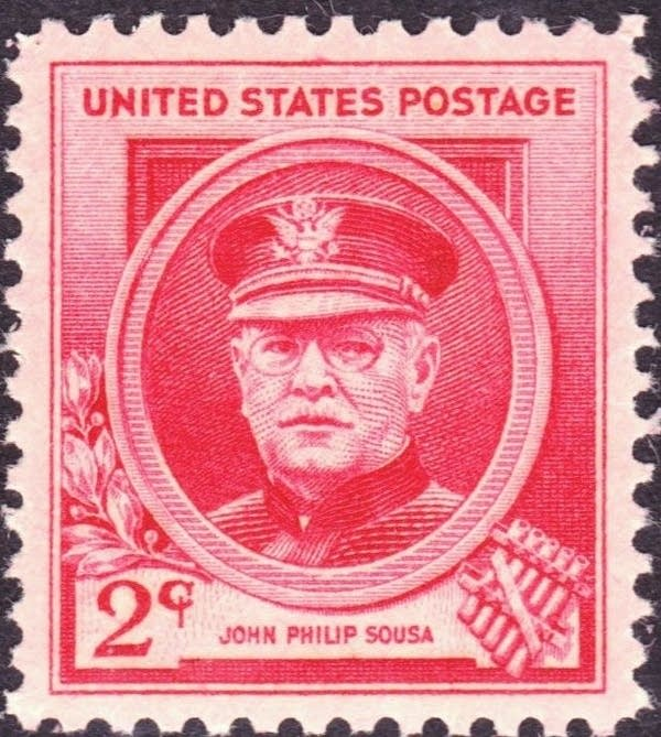 1940 commemorative John Philip Sousa postage stamp